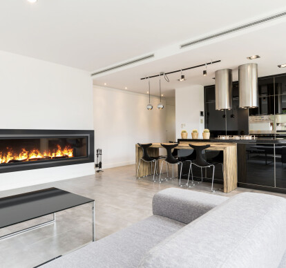 72 Inch Single-Sided | Built-In Linear Vapor-Fire Fireplace