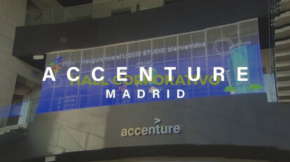 Pantalla LED TRANSPARENTE | Hall corporativo Accenture - Madrid????????