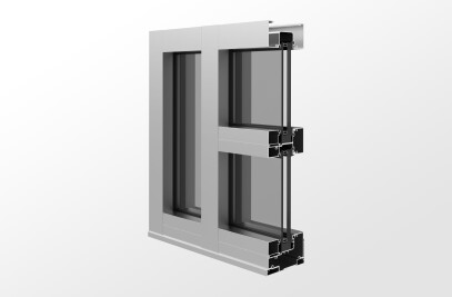 YHS 50 FI Storefront System for Insulating Glass