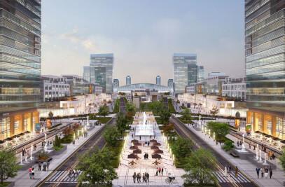 Railway station area concept