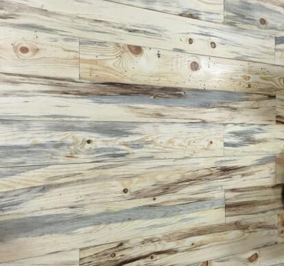 Fire Reclaimed Blue Stain Ponderosa Pine Flooring