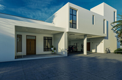 The Mediterranean white house