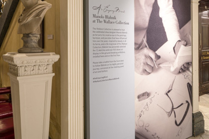 Over 120 individual shoes or pairs are exhibited within ten first floor rooms of The Wallace Collection