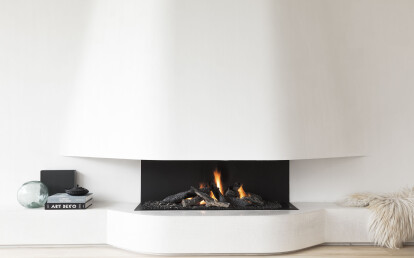 Urban 3-Sided Open Gas Fireplace