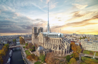 Notre Dame Cathedral Roof & Spire Design