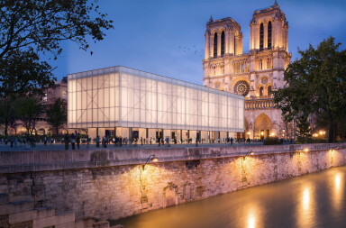 Gensler designs unsolicited proposal for temporary Notre-Dame pavilion
