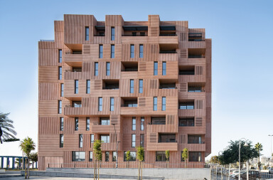Malaga Apartment Facade Breaks The Mould With Innovative Material