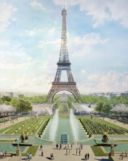 Eiffel Tower parks redesign