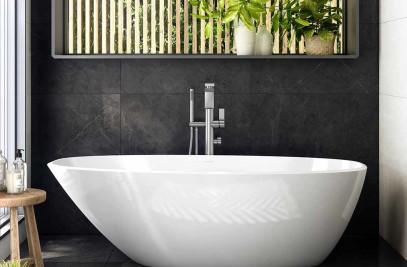 Mozzano 2 bath in RAL colour