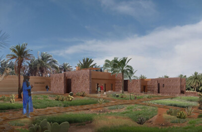 An earthen Guest House in