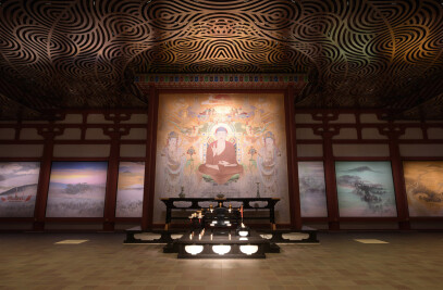 Yakushiji Temple. Jikido Hall