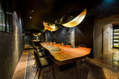 Vitello d'Oro restaurant sine 1848 restyling project by Visual Display