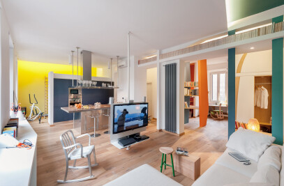 Unconventional loft in Rome