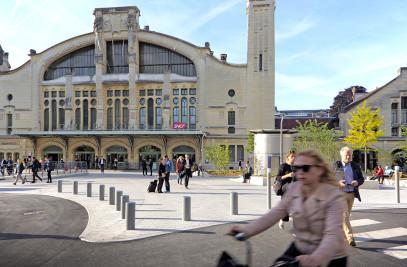 Rouen station area