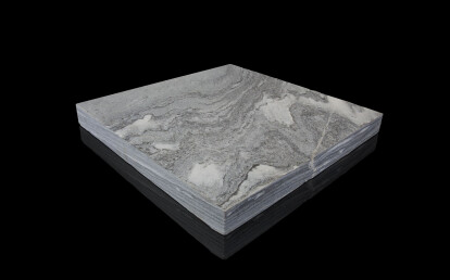Silberquarzit Dark, diamond-cut surface
