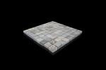 Silberquarzit Dark, mosaic diamond-cut surface