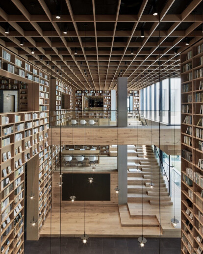Yue Library Design Creates a Unique Forest Experience