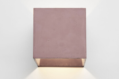 Cromia colored concrete wall lamp