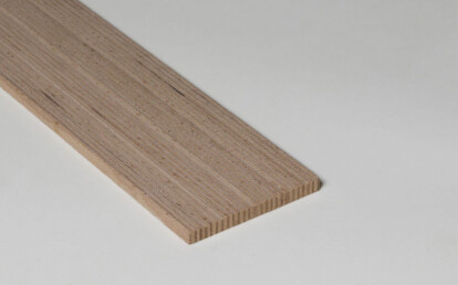 Strip for fixed flooring, staircase and podium, Beech