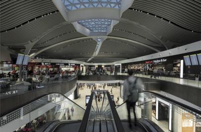 E terminal of the Leonardo da Vinci airport