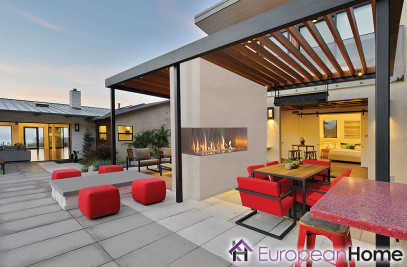 J Series Outdoor Fireplace