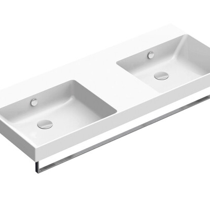 NEW ZERO Washbasin 125x50 Double