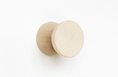 Double Beech Wood Wall Hook / Knob