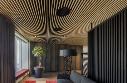 Grill - Veneered Wood Ceilings Interior