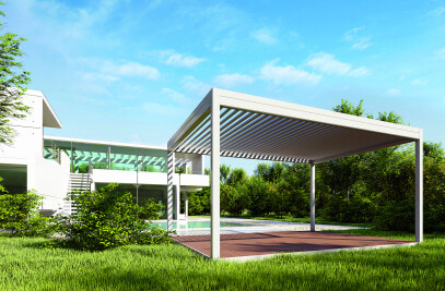 Q-box Shade bio-climatic pergolas