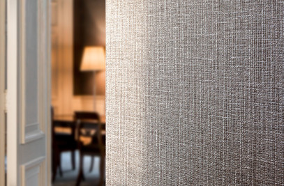 Four new designs in vinyl wallcovering