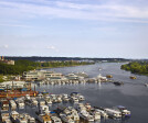 Aerial view of Pier 4 and Potomac waterway