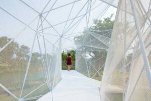 AIRLAB 3D prints an ethereal pavilion in Singapore