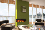 E40 Corner Style Electric Fireplace