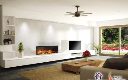 E40 Single-Sided Electric Fireplace