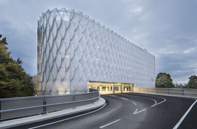 Parking garage facade P22a at Cologne Exhibition