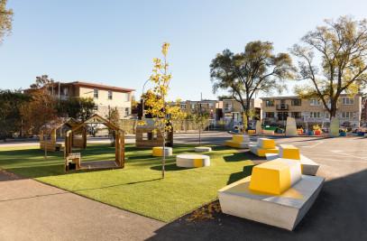 École Sainte-Anne - A new redesigned schoolyard
