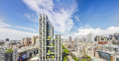 WOHA creates Taiwan residential tower complex with breathable façade