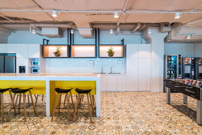 A modern office design with open pantry and games spaces - Azqore by Space Matrix - 1