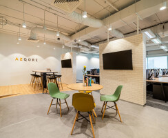 Azqore open plan workspace design done by Space Matrix