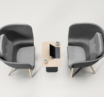 Pod PET Felt Privacy Chair