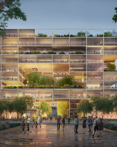 Foster + Partners wins competition for new Alibaba HQ in Shanghai