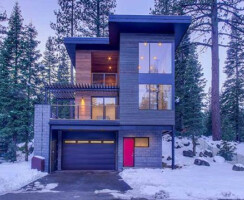 A custom, Squaw Valley, California home built by European Home partner, Method Homes.