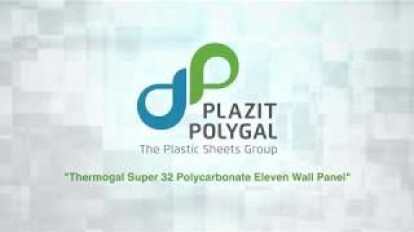 Plazit-Polygal: Thermogal Super 32mm Polycarbonate 11-Wall Panel