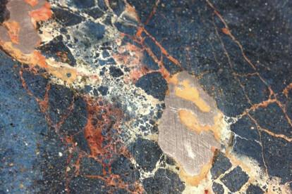 Polychrome Cocciopesto with craquelure