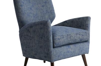 Beck Chair Marine Jacquard Dark Walnut