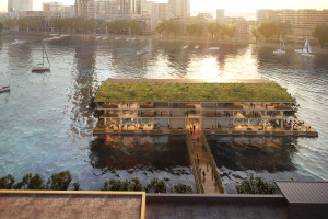A floating timber office is coming to Rotterdam