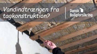 Dansk Boligforsikring på besøg - Vandindtrængen fra tagkonstruktion?