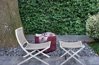 Peter Outdoor, armchair | footstool