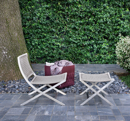 Peter Outdoor, armchair | footstool