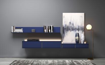Cobalto mat lacquer finish